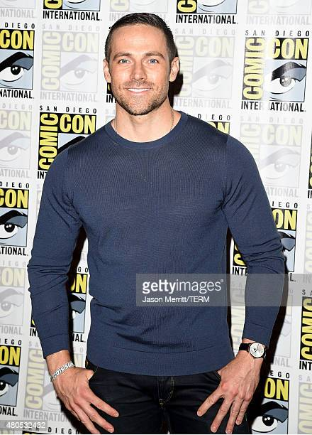 "Actor Dylan Bruce attends ""Heroes Reborn"" Press Room during Comic-Con International 2015 at Hilton Bayfront on July 12, 2015 in San Diego, California."