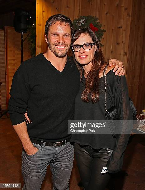 Actor Dylan Bruno and Emmeli Bruno attend the Deer Valley Celebrity Skifest at Deer Valley Resort on December 7, 2012 in Park City, Utah.