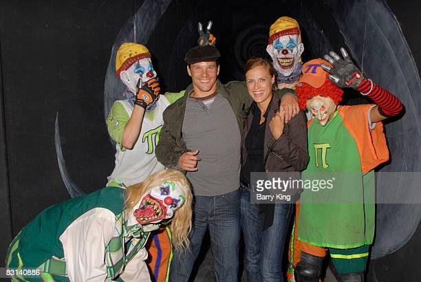 Actor Dylan Bruno and wife Emmeli Bruno attend Knott's Scary Farm's Haunt on October 5, 2008 in Buena Park, California.