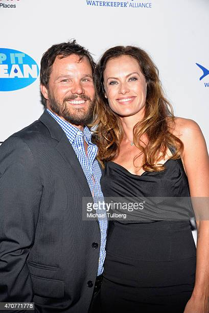 "Actor Dylan Bruno and wife Emmeli Bruno attend the ""Keep It Clean"" Comedy Benefit for the Waterkeeper Alliance at Avalon on April 22, 2015 in..."