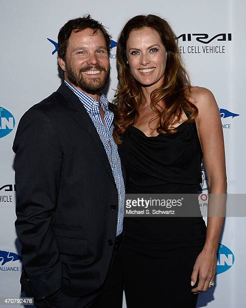 Actor Dylan Bruno and wife Emmeli Bruno attend the 'Keep It Clean' Comedy Benefit for the Waterkeeper Alliance at Avalon on April 22, 2015 in...