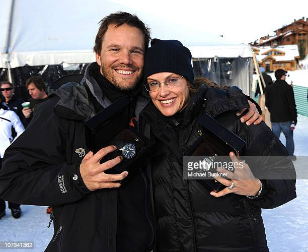 Actor Dylan Bruno and wife Emmeli Burno attend the Pro-Am Race at the 19th Annual Deer Valley Celebrity Skifest at Deer Valley Restor on December 5,...
