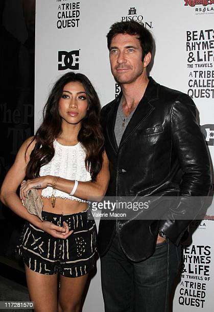 Actor Dylan McDermott and a guest attend the Los Angeles Premiere of Beats Rhymes Life The Travels Of A Tribe Called Quest After Party on June 24...