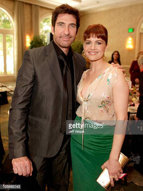 Actor Dylan McDermott and actor Carla Gugino attend VDay's 4th Annual LA Luncheon featuring a reading of Eve Ensler's newest work I Am An Emotional...