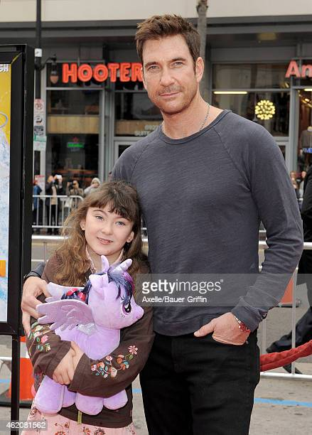 Actor Dylan McDermott and daughter Charlotte Rose McDermott arrive at the Los Angeles premiere of 'Paddington' at TCL Chinese Theatre IMAX on January...
