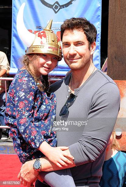 Actor Dylan McDermott and daughter Charlotte Rose McDermott attend the premiere of 'How To Train Your Dragon 2' on June 8 2014 at Regency Village...
