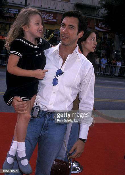 Actor Dylan McDermott and daughter Colette McDermott attend The Rugrats Movie Hollywood Premiere on November 5 2000 at Mann's Chinese Theatre in...