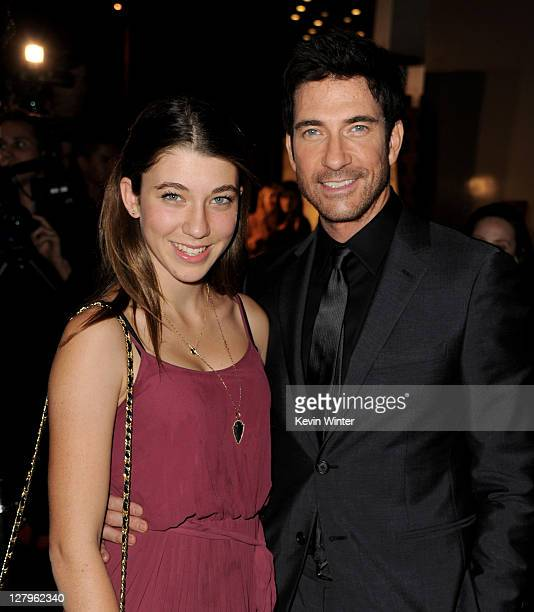 Actor Dylan McDermott and his daughter Colette McDermott arrive at the premiere of FX Network's American Horror Story at the Cinerama Dome on October...