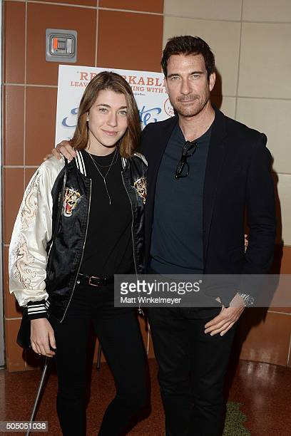 Actor Dylan McDermott and his daughter Colette McDermott attend the opening night of The Absolute Brightness of Leonard Pelkey at Kirk Douglas...