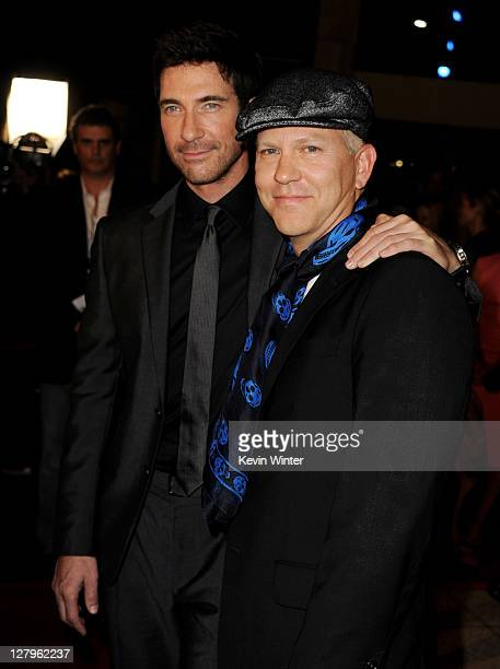 """Actor Dylan McDermott and producer Ryan Murphy arrive at the premiere of FX Network's """"American Horror Story"""" at the Cinerama Dome on October 3, 2011..."""