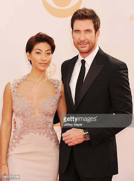 Actor Dylan McDermott and Shasi Wells arrive at the 65th Annual Primetime Emmy Awards at Nokia Theatre L.A. Live on September 22, 2013 in Los...
