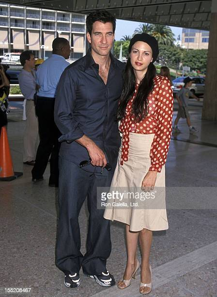 Actor Dylan McDermott and wife Shiva Rose attend the 'Thomas and the Magic Railroad' Century City Premiere on July 22 2000 at Loews Cineplex Century...