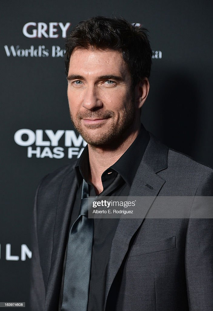 Actor Dylan McDermott arrives at the premiere of FilmDistrict's 'Olympus Has Fallen' at ArcLight Cinemas Cinerama Dome on March 18, 2013 in Hollywood, California.