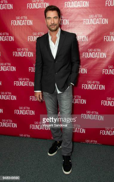 Actor Dylan McDermott attends SAGAFTRA Foundation Conversations screening of 'LA To Vegas' at SAGAFTRA Foundation Screening Room on April 18 2018 in...