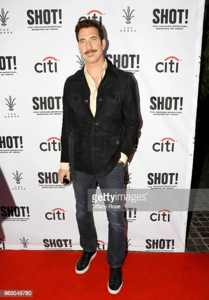 Actor Dylan McDermott attends 'Shot The Psycho Spiritual Mantra of Rock' LA Premiere Presented by Citi at The Grove on April 5 2017 in Los Angeles...