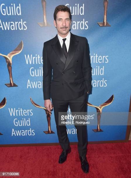Actor Dylan McDermott attends the 2018 Writers Guild Awards LA Ceremony at The Beverly Hilton Hotel on February 11 2018 in Beverly Hills California