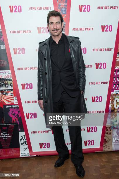 Actor Dylan McDermott attends The Red Party - 20th Anniversary Celebration Of V-Day and The Vagina Monologues at Manhattan Theater Club on February...