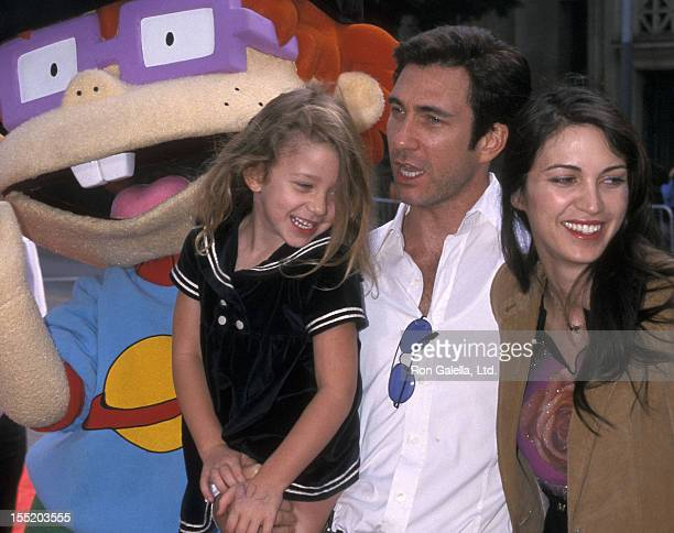 Actor Dylan McDermott wife Shiva Rose and daughter Colette McDermott attend The Rugrats Movie Hollywood Premiere on November 5 2000 at Mann's Chinese...