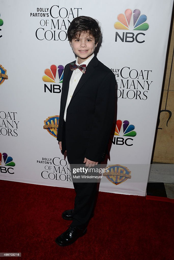 Actor Dylan Michael Rowen arrives at the premiere of Warner Bros. Television's 'Dolly Parton's Coat of Many Colors' at the Egyptian Theatre on December 2, 2015 in Hollywood, California.