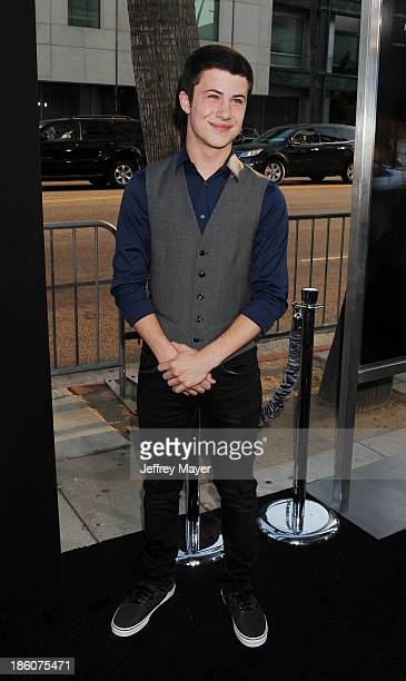 Actor Dylan Minnette arrives at the 'Prisoners' Los Angeles Premiere at the Academy of Motion Picture Arts and Sciences on September 12 2013 in...
