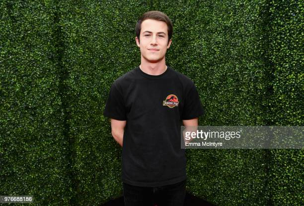 Actor Dylan Minnette attends the 2018 MTV Movie And TV Awards at Barker Hangar on June 16, 2018 in Santa Monica, California.