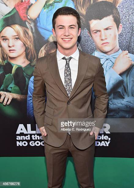 Actor Dylan Minnette attends The World Premiere of Disney's 'Alexander and the Terrible Horrible No Good Very Bad Day' at the El Capitan Theatre on...