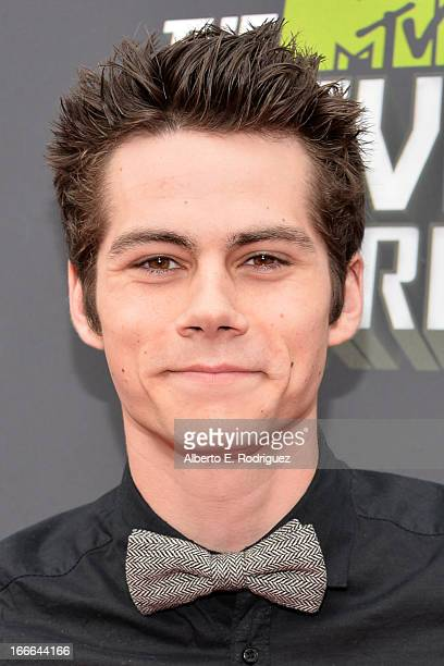 Actor Dylan O'Brien arrives at the 2013 MTV Movie Awards at Sony Pictures Studios on April 14 2013 in Culver City California