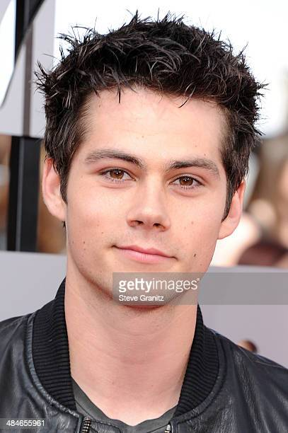 Actor Dylan O'Brien attends the 2014 MTV Movie Awards at Nokia Theatre LA Live on April 13 2014 in Los Angeles California