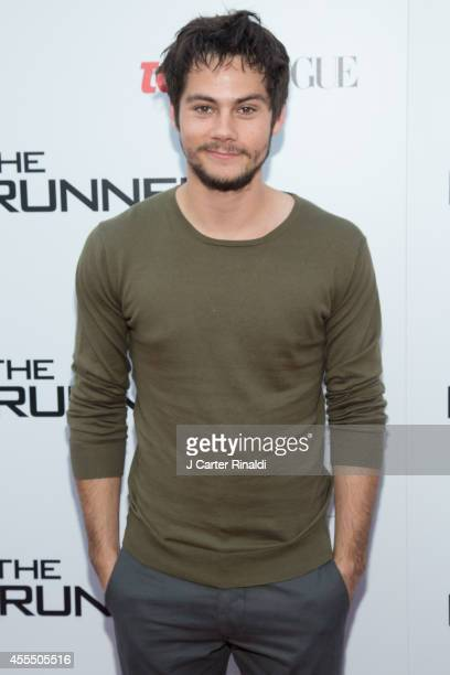 Actor Dylan O'Brien attends the 'Maze Runner' New York City screening hosted by Twentieth Century Fox and Teen Vogue at SVA Theater on September 15...