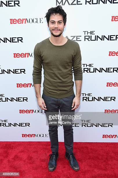 Actor Dylan O'Brien attends the Twentieth Century Fox and Teen Vogue screening of The Maze Runner at SVA Theater on September 15 2014 in New York City