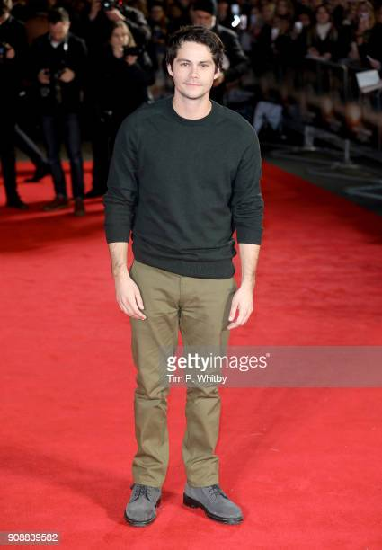 Actor Dylan O'Brien attends the UK fan screening of 'Maze Runner The Death Cure' at the Vue West End on January 22 2018 in London England
