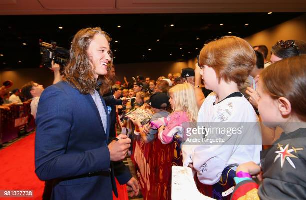 Actor Dylan Playfair arrives at the 2018 NHL Awards presented by Hulu at the Hard Rock Hotel Casino on June 20 2018 in Las Vegas Nevada