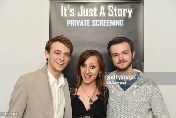 Actor Dylan Riley Snyder Bryan Morrison and Allisyn Ashley Arm attends world premiere of Allisyn Ashley Arm's 'It's Just A Story' at Gray Studios on...