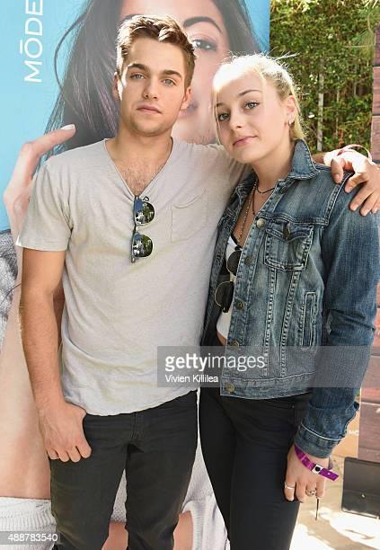Actor Dylan Sprayberry and actress Ellen Sprayberry attend Kari Feinstein's Style Lounge at Sunset Marquis Hotel & Villas on September 17, 2015 in...