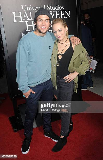 Actor Dylan Sprayberry and Ellery Sprayberry arrive for Universal Studios Hollywood Opening Night Celebration Of 'Halloween Horror Nights' held at...