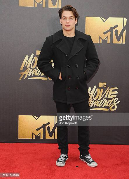 Actor Dylan Sprayberry arrives at the 2016 MTV Movie Awards at Warner Bros Studios on April 9 2016 in Burbank California