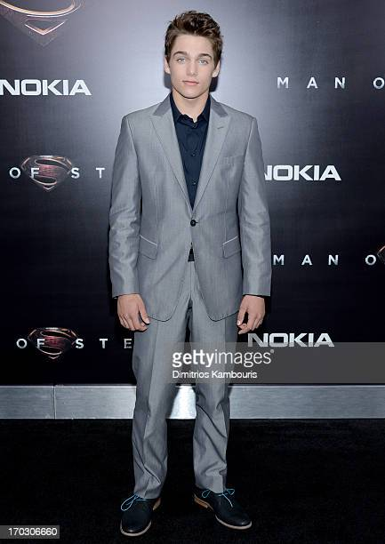 Actor Dylan Sprayberry attends the 'Man Of Steel' world premiere at Alice Tully Hall at Lincoln Center on June 10 2013 in New York City
