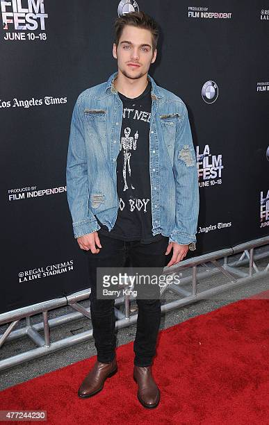 Actor Dylan Sprayberry attends the premiere Of MTV and Dimension TV's 'Scream' at the 2015 Los Angeles Film Festival at Regal Cinemas LA Live on June...