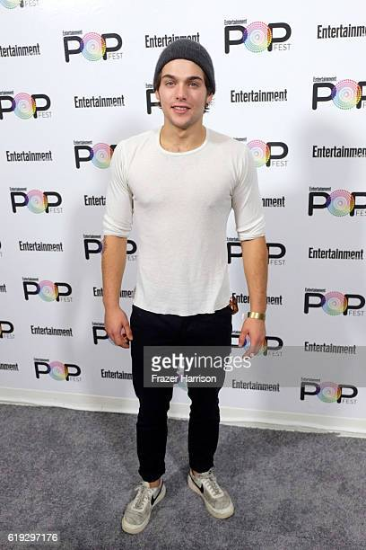 Actor Dylan Sprayberry poses backstage during Entertainment Weekly's PopFest at The Reef on October 30 2016 in Los Angeles California