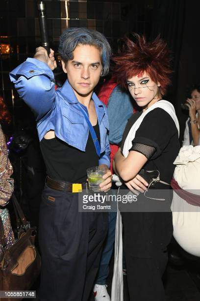 Actor Dylan Sprouse and model Barbara Palvin attend Heidi Klum's 19th Annual Halloween Party Sponsored by SVEDKA Vodka and Party City at Lavo NYC on...