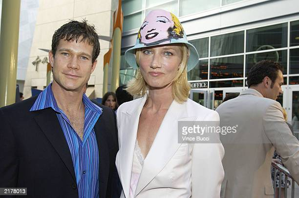 Actor Dylan Walsh and actress Joely Richardson attend a screening of the pilot episode of the FX original television drama series Nip/Tuck on July 19...
