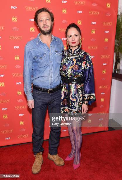 Actor Ebon MossBachrach and director Yelena Yemchuk attend 'The Assassination Of Gianni Versace American Crime Story' New York screening at...