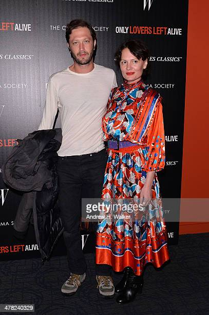 Actor Ebon MossBachrach and photographer Yelena Yemchuk attend the Sony Pictures Classics' 'Only Lovers Left Alive' screening hosted by The Cinema...