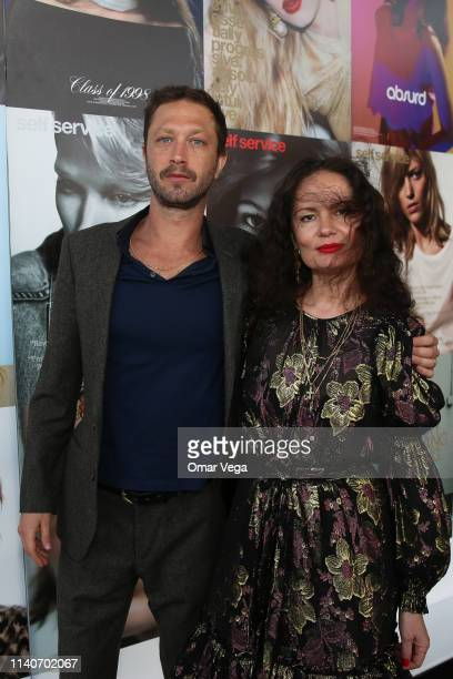 Actor Ebon MossBachrach and Vogue photographer Yelena Yemchuk and attend Dallas Contemporary Spring Gala on April 5 2019 in Dallas Texas