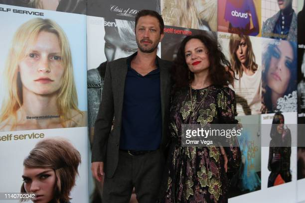 Actor Ebon MossBachrach and Vogue Photographer Yelena Yemchuk attend Dallas Contemporary Spring Gala on April 5 2019 in Dallas Texas