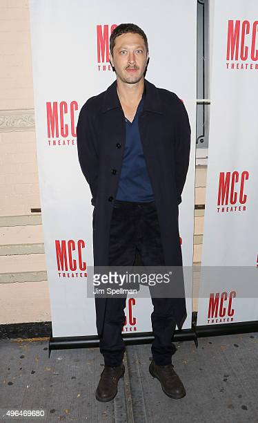 """Actor Ebon Moss-Bachrach attends the """"Lost Girls"""" opening night after party at 49 Grove on November 9, 2015 in New York City."""