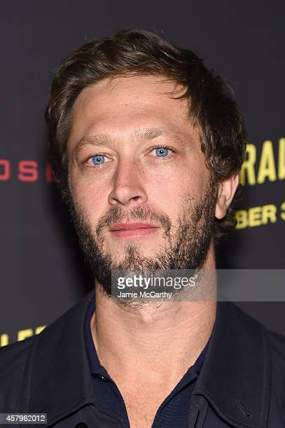 """Actor Ebon Moss-Bachrach attends the """"Nightcrawler"""" New York Premiere at AMC Lincoln Square Theater on October 27, 2014 in New York City."""
