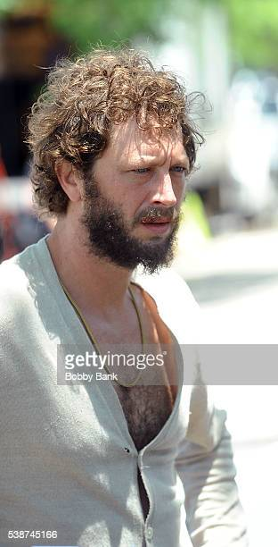 """Actor Ebon Moss-Bachrach on the set of """"Girls"""" on June 7, 2016 in New York City."""