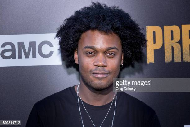 Actor Echo Kellum arrives for the Premiere Of AMC's 'Preacher' Season 2 at The Theatre at Ace Hotel on June 20 2017 in Los Angeles California