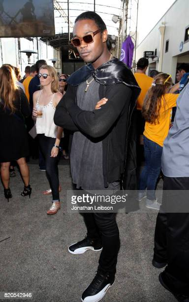 Actor Echo Kellum at BuzzFeed The CW Present SRSLY The Best Damn Superhero Party on July 21 2017 in San Diego California